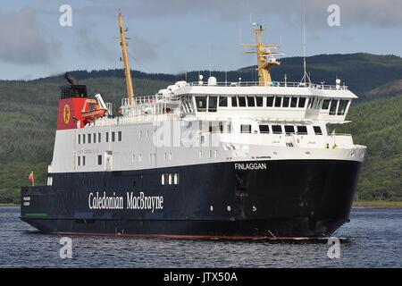 CALEDONIAN MacBRAYNE VEHICLE AND PASSENGER FERRY MV FINLAGGAN - Stock Photo