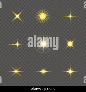 Star burst with sparkles - Stock Photo