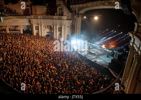 Deftones, performing live at Brixton Academy, 17th November 2010     * Stephen Carpenter - guitar     * Sergio Vega - Stock Photo