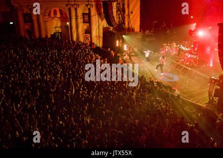 The Prodigy, live at Brixton Academy, 12th December 2008 Liam Howlett Keith Flint Maxim Reality - Stock Photo