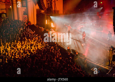 The Prodigy, live at Brixton Academy, 12th December 2008 Liam Howlett Keith Flint Maxim Reality - Stock Photo