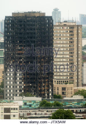 File photo dated 11/07/17 of the Grenfell Tower in west London. People affected by the Grenfell Tower fire have - Stock Photo