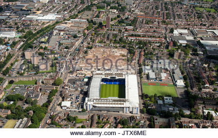 File photo dated 12/07/12 of an aerial view of White Hart Lane, the stadium of Tottenham Hotspur Football Club, - Stock Photo