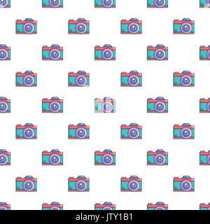 Retro camera pattern seamless - Stock Photo