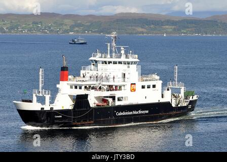 CALEDONIAN MacBRAYNE VEHICLE AND PASSENGER FERRY MV CORUISK - Stock Photo