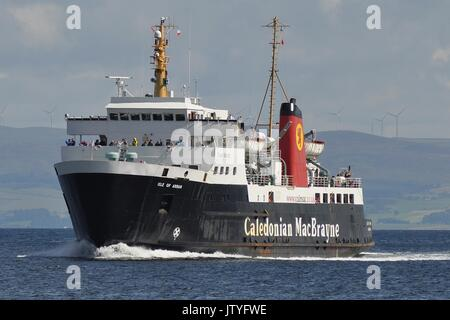 CALEDONIAN MacBRAYNE VEHICLE AND PASSENGER FERRY MV ISLE OF ARRAN - Stock Photo