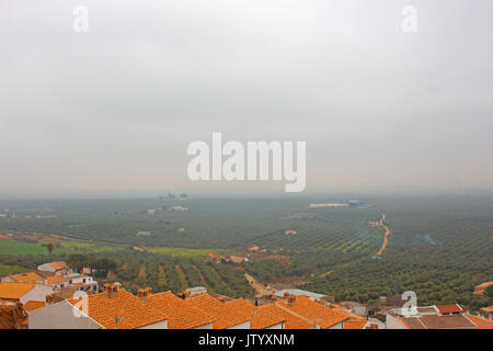 Fields. Beautiful view. Landscape in Andalusia, Spain. - Stock Photo