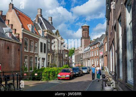 Kromme Nieuwegracht, a picturesque street in the historic city centre, Utrecht, Netherlands - Stock Photo