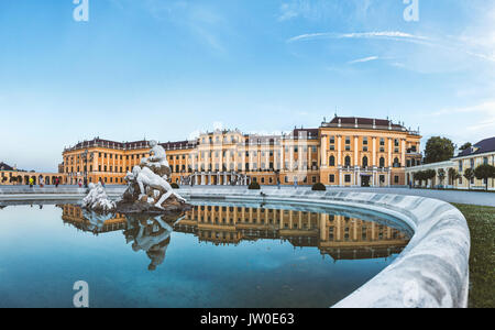 Beautiful Schonbrunn palace in Vienna, Austria - Stock Photo