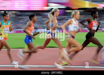 Great Britain's Eilish McColgan in action in the Women's 5000m heats during day seven of the 2017 IAAF World Championships - Stock Photo