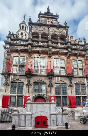 Netherlands, South Holland, The Hague (Den Haag), view of the Renaissance style Old City Hall - Stock Photo