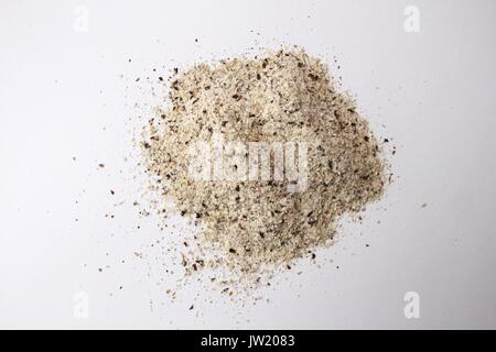 Buckwheat flour isolated on white background - Stock Photo