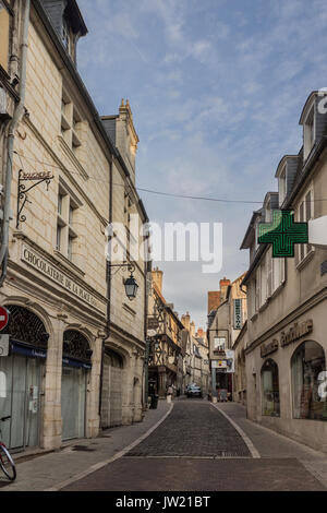 The PIcturesque Houses o Bourges France - Stock Photo
