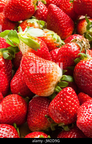 strawberries texture background - Stock Photo