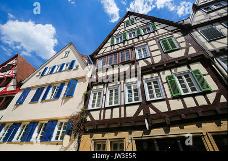 Typical half-timbered houses in the historical center of Tubingen, Baden Wurttemberg, Germany. - Stock Photo
