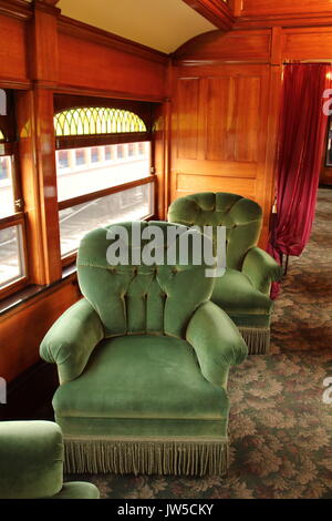 old pullman rail car interior the railway museum of greater stock photo 41988209 alamy. Black Bedroom Furniture Sets. Home Design Ideas