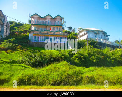 Nuwara Eliya, Sri Lanka - May 04, 2009: The tradisional colonial houses - Stock Photo
