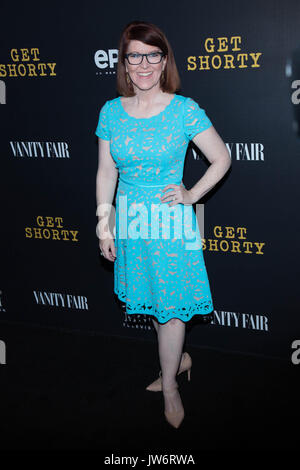 West Hollywood,USA. 10th Aug,2017. Kate Flannery attends red carpet premiere EPIX original series 'Get Shorty' Pacific - Stock Photo
