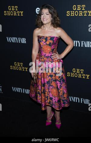 West Hollywood,USA. 10th Aug,2017. Sarah Stiles attends red carpet premiere EPIX original series 'Get Shorty' Pacific - Stock Photo