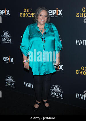 West Hollywood,USA. 10th Aug,2017. Lidia Porto attends red carpet premiere EPIX original series 'Get Shorty' Pacific - Stock Photo