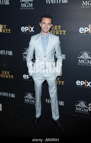 West Hollywood,USA. 10th Aug,2017. Sasha Feldman attends red carpet premiere EPIX original series 'Get Shorty' Pacific - Stock Photo