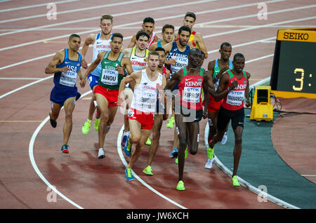 London, UK. 10th Aug, 2017. London, August 10 2017 . Men's 1500m heats on day seven of the IAAF London 2017 world - Stock Photo