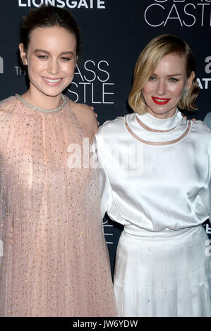 Brie Larson and Naomi Watts attend 'The Glass Castle' New York screening at SVA Theatre on August 9, 2017 in New - Stock Photo