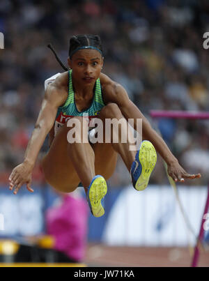 London, UK. 11th Aug, 2017. Brazilian Eliane Martins competes at the long jump final during the World Athletics - Stock Photo