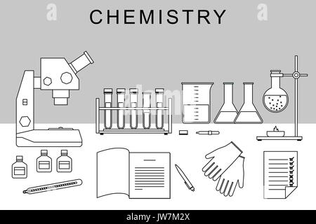 Chemistry thin banner. - Stock Photo