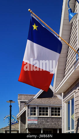 America, Canada, Québec,, Québec Maritime, Madeleine Islands, ; the flag of Madeleine Islands, - Stock Photo