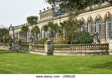 The Orangery in Margam country park in Margam near Port Talbot South Wales UK - Stock Photo