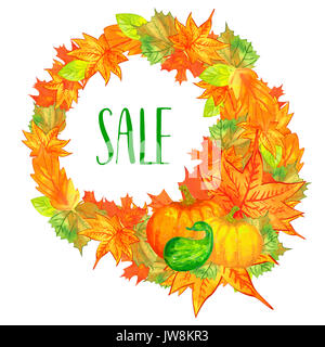 autumn sale background - Stock Photo
