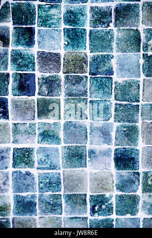 Moroccan tiles in blue, marine colours. Abstract texture background. - Stock Photo