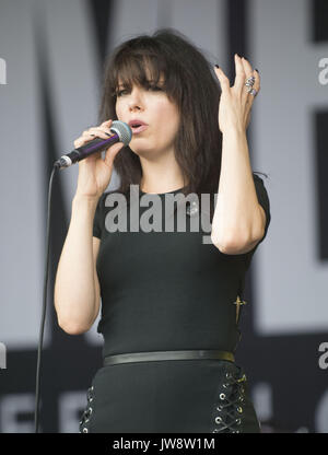 Imelda May performing live at the Cornbury Music Festival 2017  Featuring: Imelda May Where: Oxfordshire, United - Stock Photo