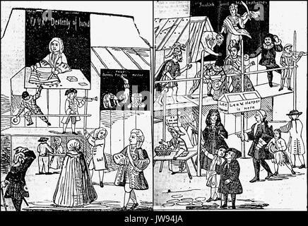 St Bartholomew's Fair  London in 1721 - Stock Photo