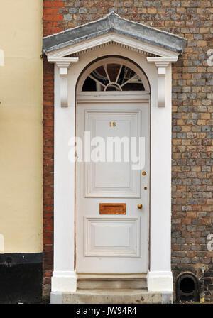 Georgian Architectural Style Front Door And Doorway In