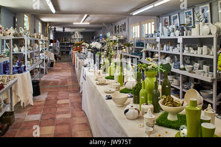 Europe, France, Occitanie, Lot, Puy l'Evêque city , Virebent Porcelain Manufactory, shop - Stock Photo