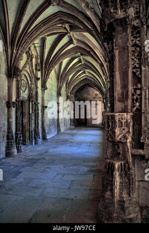 Europe, France, Occitanie, Lot, Cahors city, Sint-Etienne cathedral, cloister - Stock Photo