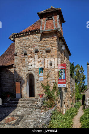 Europe, France, Occitanie, Lot, St-Cirq-Lapopie village along the river Lot, This medieval village, elected favorite - Stock Photo