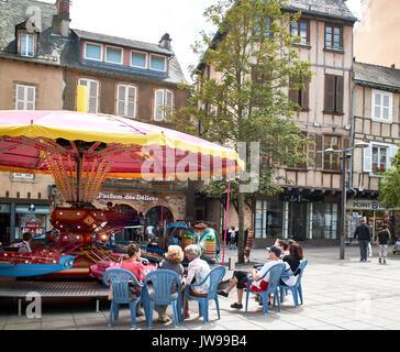 Europe, France, Occitanie,Aveyron,  Rodez city, Bourg square