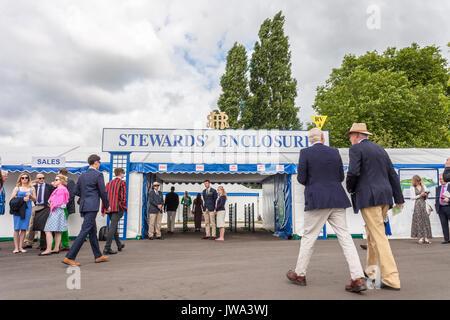 Stewards Enclosure, Henley Royal Regatta - Stock Photo