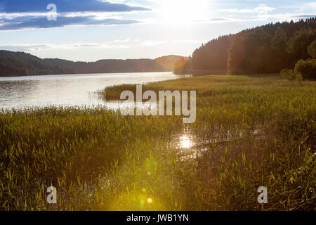 Lake Ladoga Skerries Karelia Russia - Stock Photo