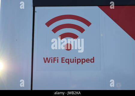 WiFi sign on a long distance - Stock Photo