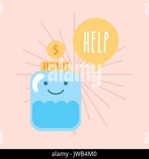 Help donations children - Stock Photo