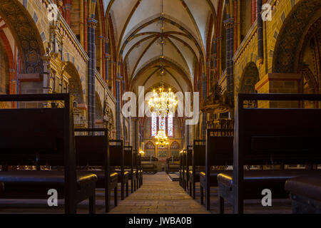 BREMEN, GERMANY - 16 APR 2016: Rich interior of the Bremer Dom Cathedral - Stock Photo
