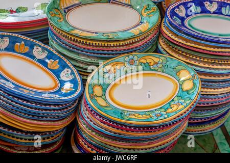 Amalfi Coast ceramic production - Stock Photo & Amalfi Coast ceramic production Stock Photo: 153318029 - Alamy