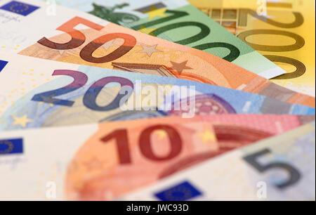 bundle of euro currency - Stock Photo
