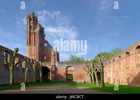 Former Benedictine Abbey of Limburg, Bad Dürkheim, wine route , Palatinate, Rhineland-Palatinate, Germany - Stock Photo