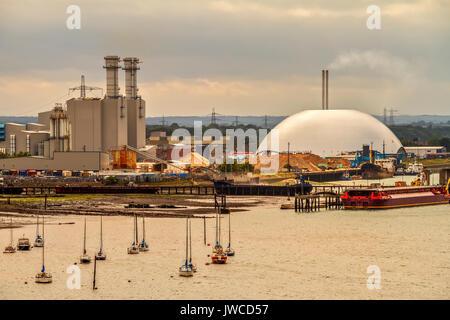 Waste disposal, Energy Recovery, Power Station, Southampton, UK - Stock Photo