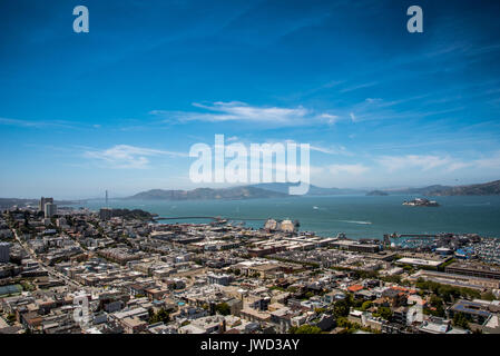 Aerial Landscape View of Bay - Stock Photo